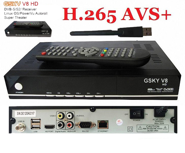 BY DHL 2017 NEW H.265/AVS AUTO ROLL HD GSKY V8 (linux OS) DVB-S/S2 satellite receiver GLOBAL POWERVU aisa south america strong technology team auto roll new key in short time on hello box hd gsky v7 dvbs2 powervu satellite receiver