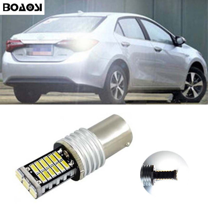 BOAOSI 1x Canbus Car LED Lamp 1156 P21W 4014SMD Led CREE Chip Backup Rear Reversing Tail Light Bulb for Toyota yaris 2008-2013 wljh 2x canbus 20w 1156 ba15s p21w led bulb 4014smd car backup reverse light lamp for bmw 228i 320i 328d 328i 335i m3 x1 x4 2015