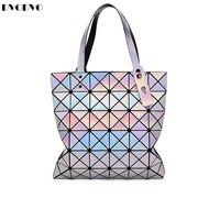 Bao Bao Fashion Handbags Laser Geometry Diamond Shape PVC Holographic Bag Patchwork Women 39 S Handbag