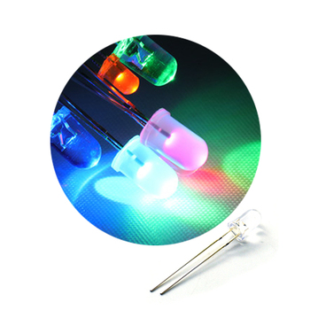 100Pcs Free Shipping 5mm Through Hole High Brightness LED Diode Light Color=Green/Red/Yellow/Blue/White image