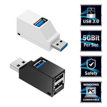 Mini 3 Ports USB 3.0 Splitter Hub High Speed ​​Data Transfer Splitter Box Adapter For PC Laptop MacBook Pro Accessories
