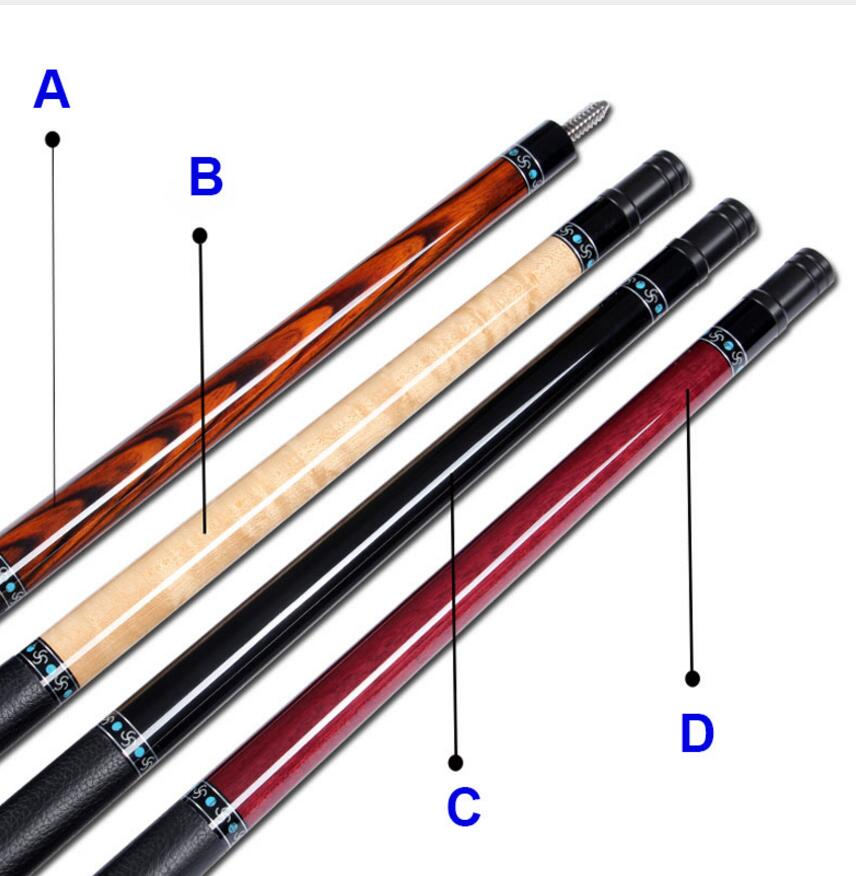New Arrival Billiard Pool Cues 12 5mm Tip 4 Pieces Spliced Wood Handle High Quality Billiard Stick Professional Billiard Kit in Snooker Billiard Cues from Sports Entertainment