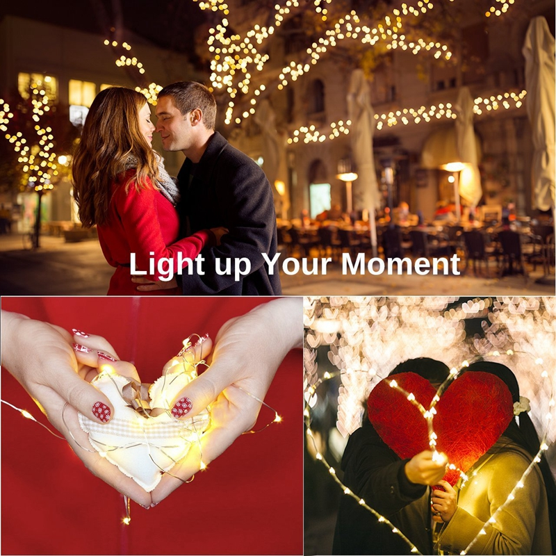 cheapest Solar String Light 10m 20m 100LED Silver wire Fairy Tale Indoor Outdoor Waterproof led Light Garden Family Ball Party Christmas