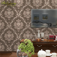 цена на beibehang European Luxury Textured papel de parede 3d Damask wallpaper for walls 3 d Embossed Wall Paper For Bedroom Living Room
