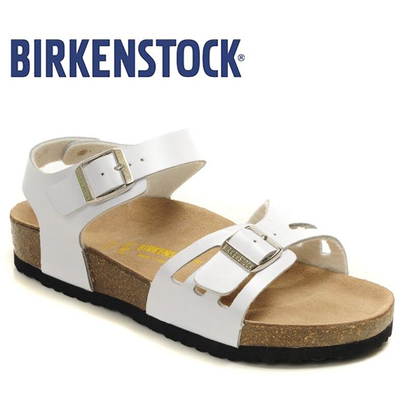 Original Birkenstock 2019 pantoufles hommes chaussures sur plage diapositives sandales d'été mode chaussures hommes unisexe chaussures hommes tongs 809