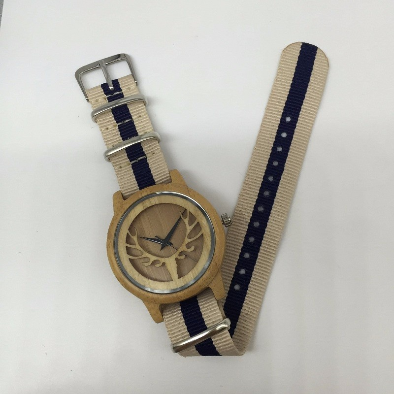wood nylon watch 01