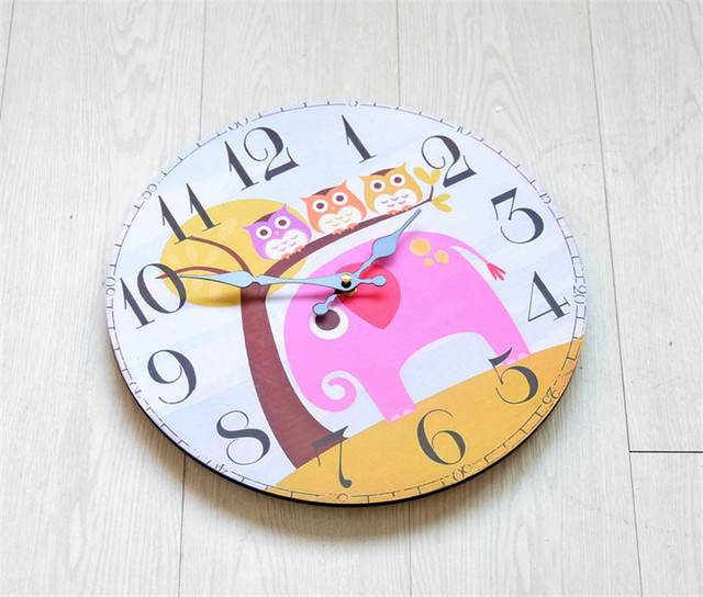 Fashion Furniture Cartoon Wall Clock New Design Clock With Thicken Board Digital Clock For Wall Decoration