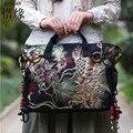 XIYUAN МАРКА Повседневная и роскошные новые национальные этнические цветы вышивка вышитые большой Холст плеча сумку ручной сумки