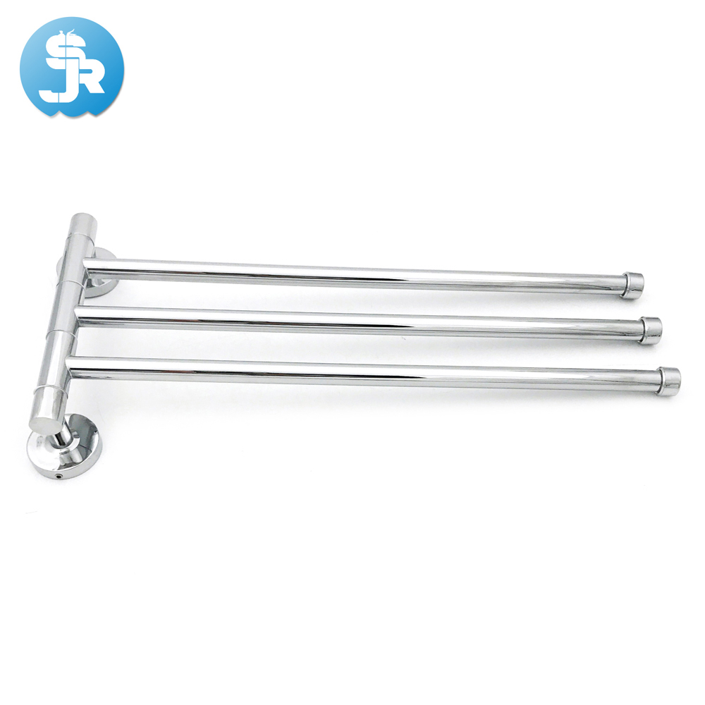 new excellent quality 360 degree rotation towel bar chrome plated bathroom towel rack Stainless Steel towel bar free shipping in Towel Bars from Home Improvement