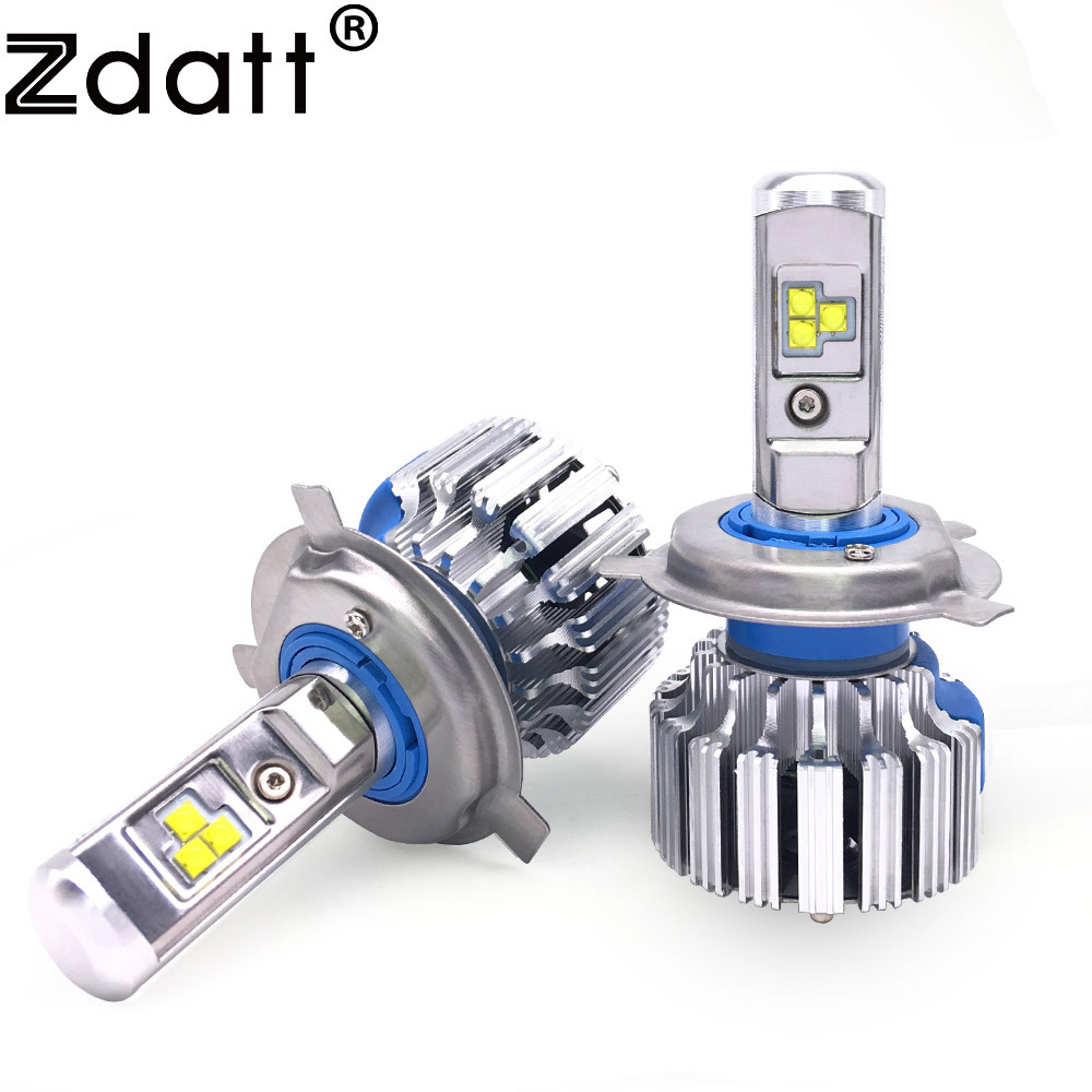 Zdatt 2Pcs Super Bright H4 Led Bulb Canbus 80W 8000Lm Auto Headlights H1 H7 H8 H9 H11 Car Led Light 12V Fog Lamp Automobiles