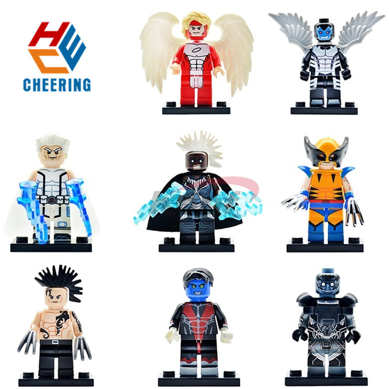 Single Sale Building Block Super Hero X-Man Angel Apocalypse Wolverine Daken Best Gift Toy For Kids PG8019