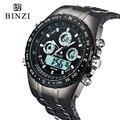 Binzi marca luxury sport relógio de pulso militar dos homens relógios moda silicone levaram relógios digitais à prova d' água homens relógio de pulso inteligente