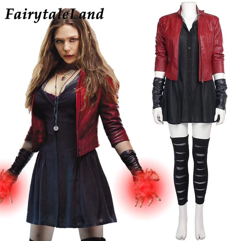 Avengers Age of Ultron trajes cosplay Carnaval Halloween Cosplay Wanda Maximoff Scarlet Witch Costume para mulheres adultas