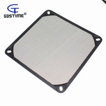 1PCS Gdstime 140mm Aluminum Dustproof Dust Filter Grill Mesh Guard For PC CASE CPU Fan 120mm pc computer fan cooling dustproof dust filter case aluminum grill guard
