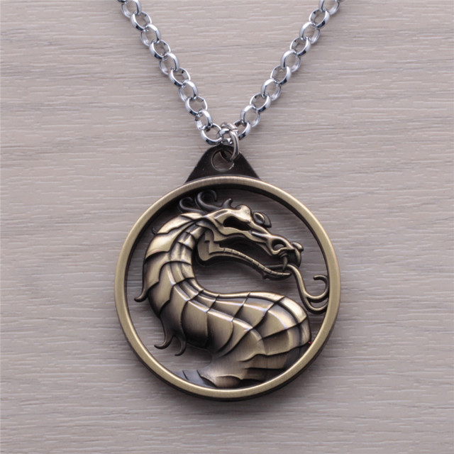 Mortal Kombat Dragon Pendant Necklace Jewelry For Men And Women