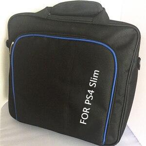 Image 4 - Защитный чехол для игровой системы сумка на плечо сумка для путешествий Черный чехол для Sony Playstation 4 PS4 Slim