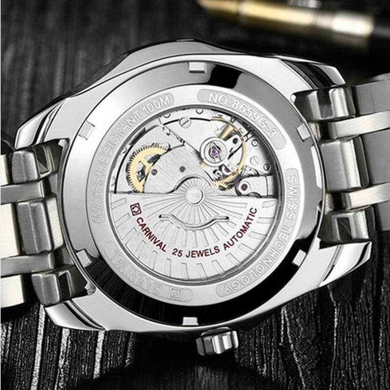 Karnavalo aukščiausios kokybės prekės ženklo automatiniai - Vyriški laikrodžiai - Nuotrauka 5
