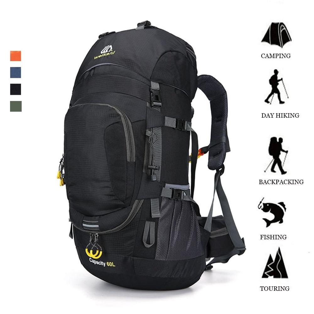 KOKOCAT New 60L Hiking <font><b>Backpack</b></font> Sports Outdoor <font><b>Backpack</b></font> Mountaineering Bag with Rain Cover Travel <font><b>Backpack</b></font> image