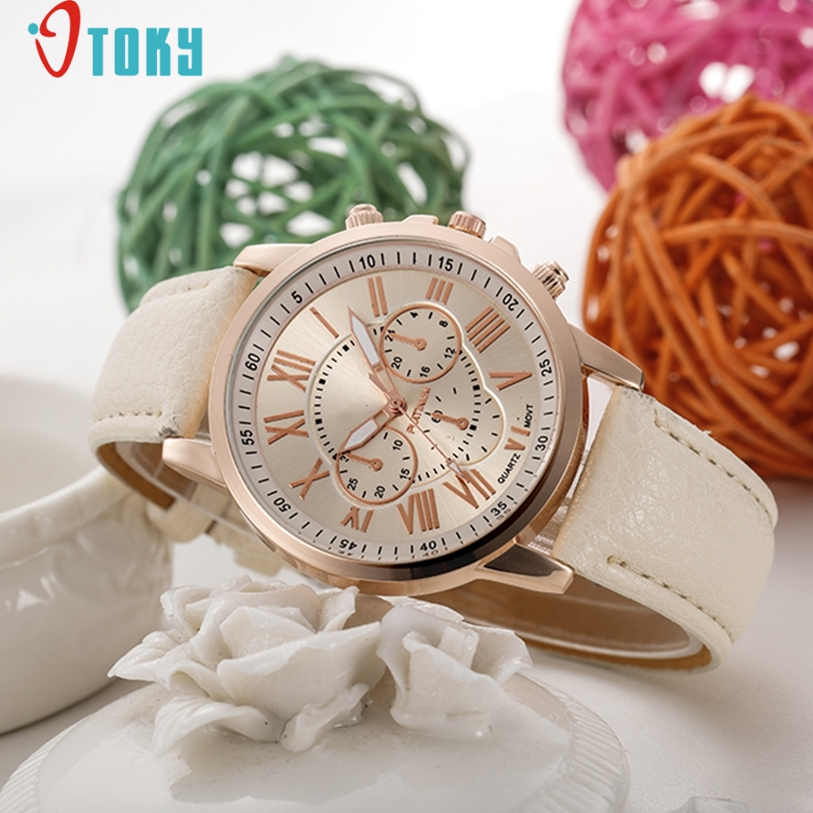 Watches OTOKY Willby Fashion Roman Numerals Faux Leather Analog Quartz Women Wrist Watch Relogio Feminino  161212 Drop Shipping кофта мужская tom tailor denim цвет темно синий 2530369 00 12 6576 размер xl 52