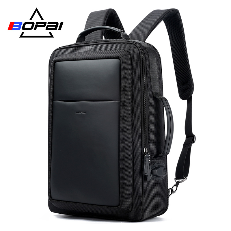 BOPAI USB External Charge Enlarge Anti theft Laptop Backpack for School Multifunction Laptop Bag 15.6 Inch Men Backpack Travel bopai laptop backpack with usb external charging port for 15 6 inch laptop men anti theft waterproof large capacity travel bag