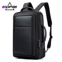 BOPAI USB External Charge Enlarge Anti theft Laptop Backpack for School Multifunction Laptop Bag 15.6 Inch Men Backpack Travel