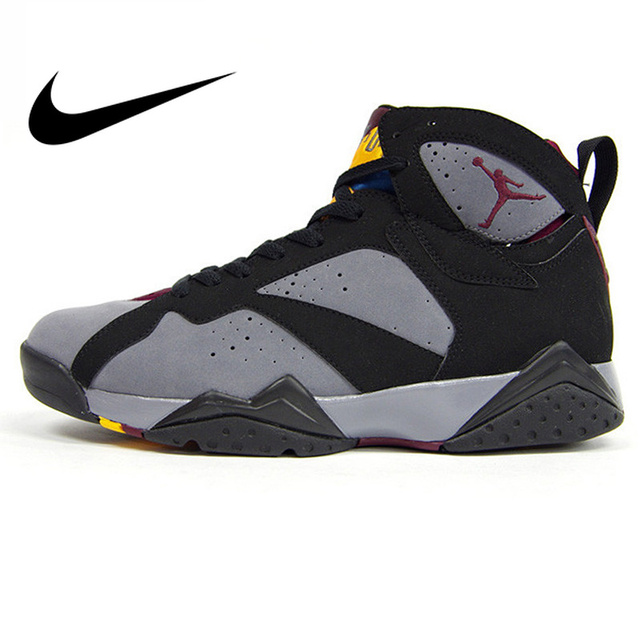 the best attitude 3a246 bbc47 Original Et Authentique Nike Air Jordan 7 Bordeaux AJ7 Bordeaux Femmes de  Basket-Ball Chaussures