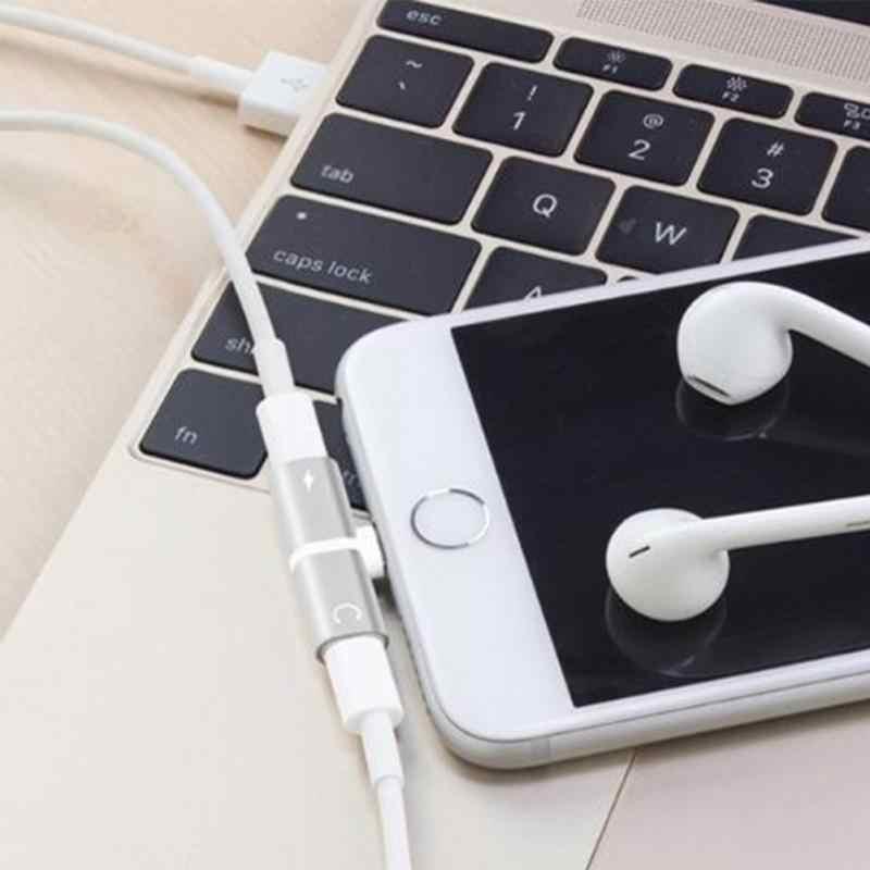 2 w 1 podwójne porty adapter słuchawek ładowarka akcesoria dla 5se 7 8 6 s xs max xr 6 s 7 plus 8 plus Case coque akcesoria do telefonów