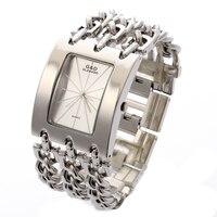G D Women Silver Triple Chain Stainless Steel Band Women S Luxury Bracelet Watch Fashion Quartz