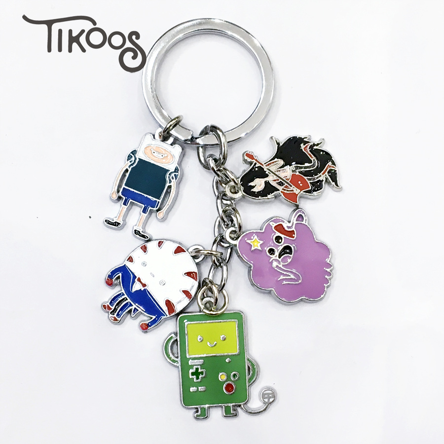 Anime Adventure Time Pictures us $3.36 20% off|anime adventure time with finn and jake bmo ice king lumpy  space princess keychain keyrings pendant for gift-in key chains from