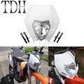 Белая фара для мотоцикла 12V 35W Dirt Bike для мотокросса  уличного бойца  фара для KTM EXC XC SCF Yamaha WR TTR 250R 250L 450F