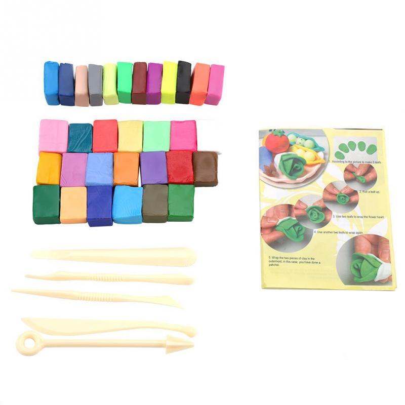 32 Kleuren Polymeer Klei Tool Set Puzzel Klei Met 5 Beeldhouwen Tools Pakket Speciale Speelgoed Diy Polymeer Klei Tool