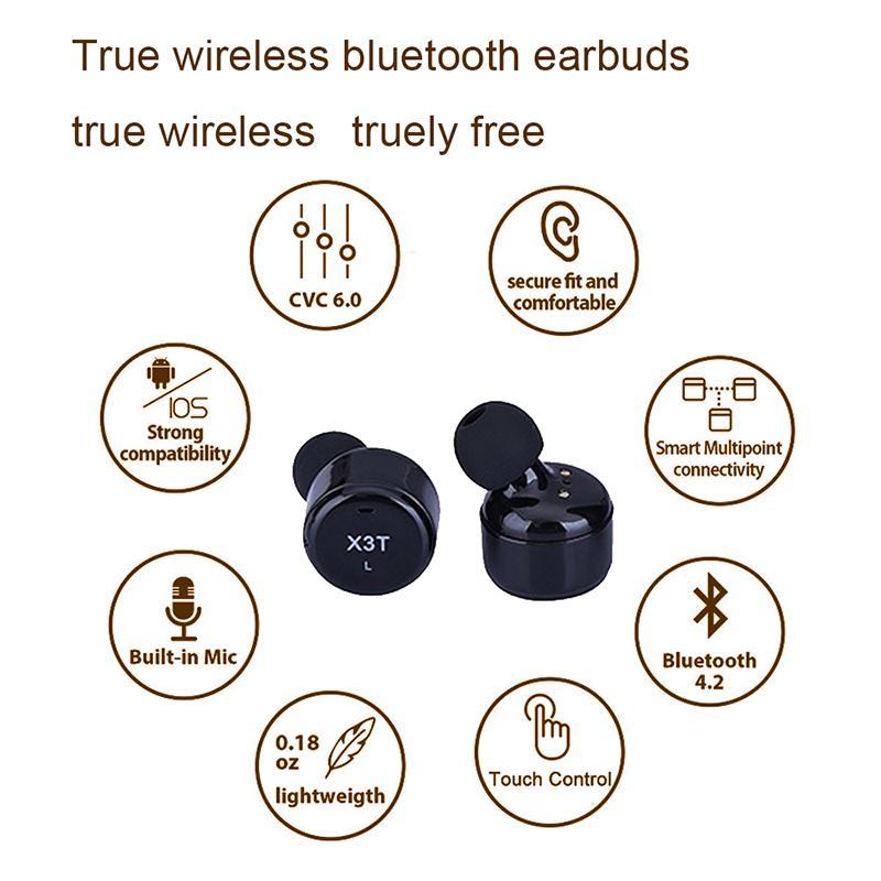 Leegoal X3T Touch Control True Wireless Bluetooth Earbuds Earphone Mini Sport Earphones With Charging Case for Smart Phones