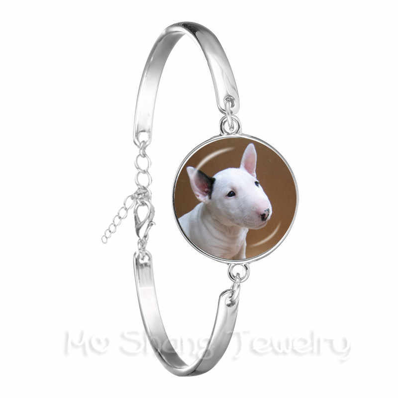 Vintage Silver Plated Bracelet Pug In A Tea Cup Dog Glass Cabochon Chain Bangle For Women Men Jewelry Gift