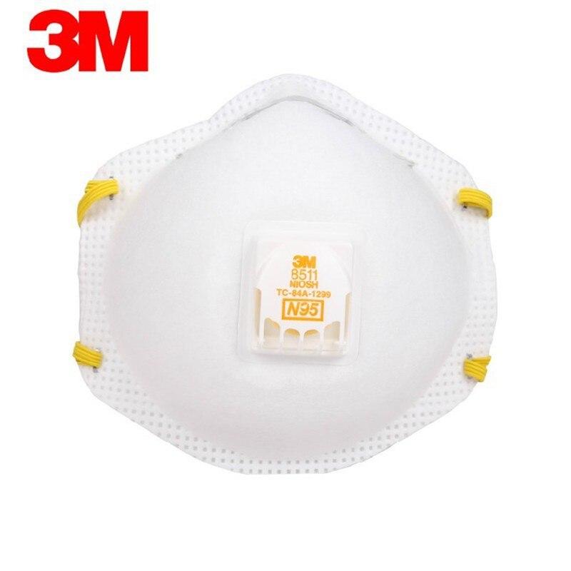 Authentique 3m 8511 N95 Particules Masque De Protection PM2.5 Brouillard Poussière Masque Industriel