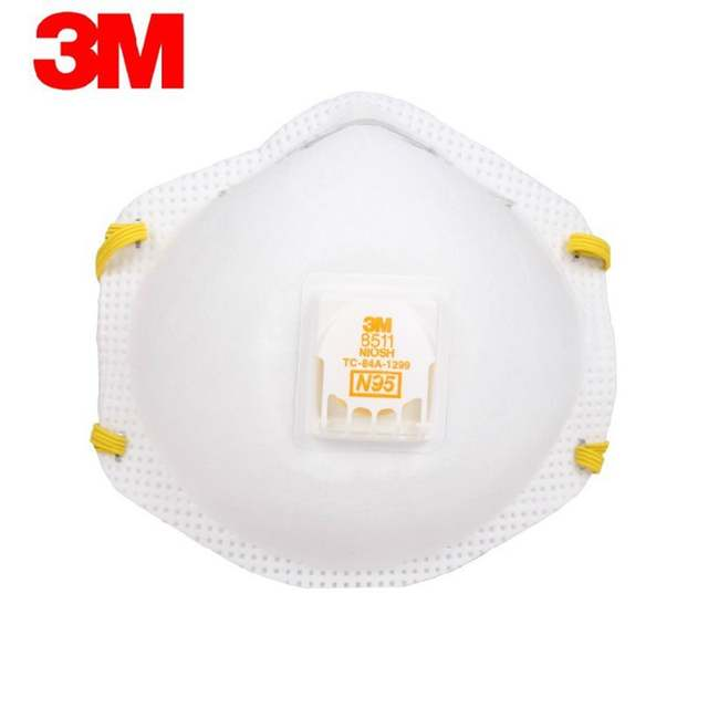 Particulate Mask Pm2 N95 Genuine Protective 3m Dust Fog 5 8511