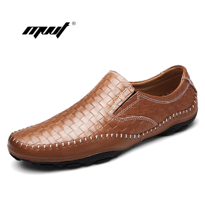 Genuine Leather men Casual Shoes, New Handmade men flats shoes Boat driving Shoes,Brand Design Loafers For Men men s genuine leather casual shoes handmade loafers for male men waterproof flat driving shoes flats