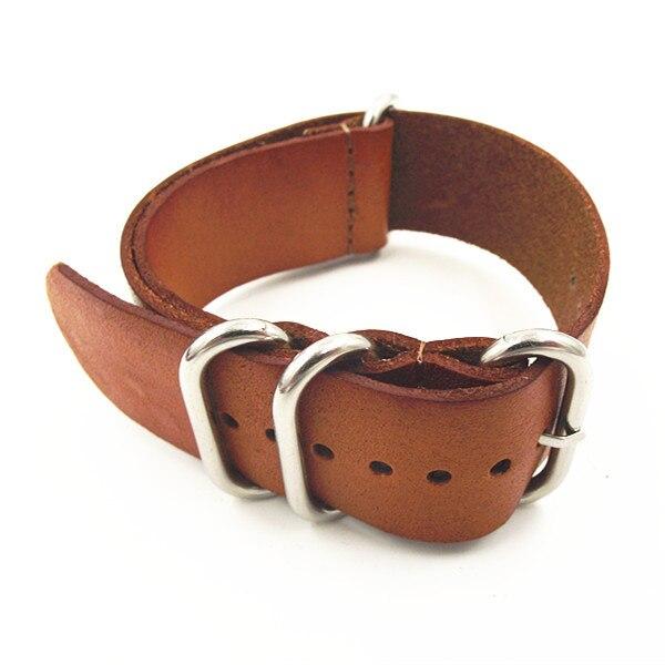 Zulu sangles vente en gros 10 PCS/lots haute qualité 20 MM otan bracelet en cuir véritable bracelet de montre otan sangles montre sangle 110102-in Bracelets from Montres    3