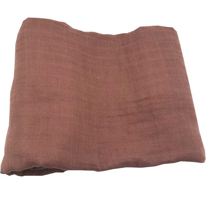 Ins hot สีทึบพิมพ์นุ่ม 70% ไม้ไผ่ 30% cotton muslin ผ้าห่มเด็กผ้าห่มสำหรับทารกแรกเกิด swaddle