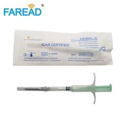 Frete grátis seringa microchip microchip RFID animal injector com tag vidro 2.12x12mm 134.2KHz padrão