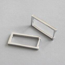 Shanice nova chegada ins estilo geométrico quadrado hoop brincos para mulher tendência 100% 925 prata esterlina moda jóias brinco