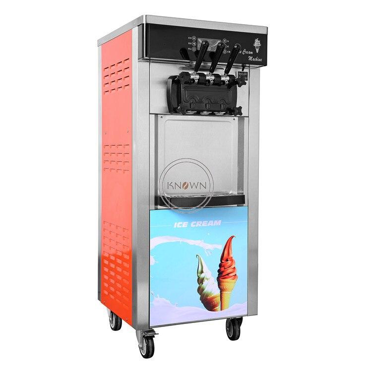 Big capacity 20-28L/h  Soft Ice Cream Machine with 3 Flavor for fruit soft ice cream making machine priceBig capacity 20-28L/h  Soft Ice Cream Machine with 3 Flavor for fruit soft ice cream making machine price