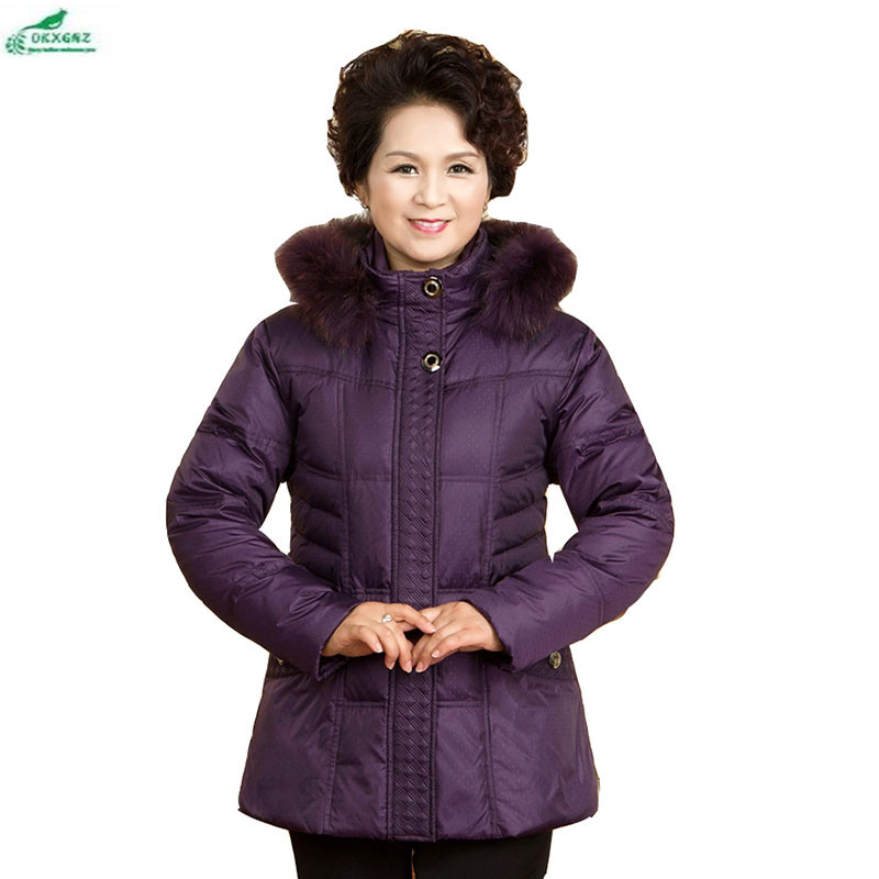 New middle aged and clothing women high-end Large size fashion leisure Outerwear winter thickening long coat women OKXGNZ AF23