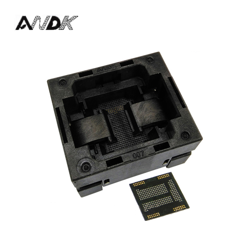 eMCP221 TOP-OPEN down press socket adapter without PCB board flash memory data recovery burn-in test programming code free shipping sop32 wide body test seat ots 32 1 27 16 soic32 burn block programming block adapter