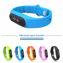 2016 Waterproof Bluetooth Smart Bracelet E06 wristband Health fitness tracker Sport Smartband Watch For iPhone IOS Android phone
