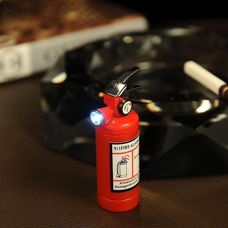Image 3 - Креативная компактная струйная зажигалка, светодиодный бутановый зажигалка, надувной газовый огнетушитель, зажигалка, металлическая забавная игрушка-in Спички from Дом и животные