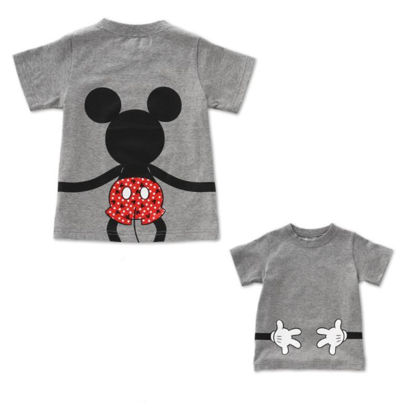 LILIGIRL футболка «Папа и я» летняя одежда для мамы и дочки хлопковый топ с Микки и Минни Маус для мальчиков и девочек, Семейные комплекты - Цвет: Ali913G
