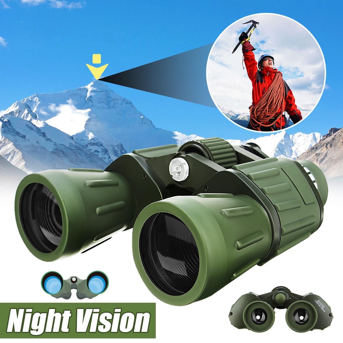 все цены на Night Vision 60x50 HD Binoculars Military Zoom Powerful Hunting Optics Astronomical Telescope Objective + Eyepiece Adjustment онлайн