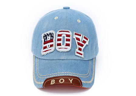 50pcs/lot fedex fast free shipping boy girl Baseball Caps Unisex Fashion Sun Hip Hop baseball cap children denim casual cap