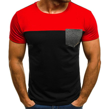 New Men\s T Shirt Summer Sports Running Top Short Sleeve Casual O Collar Cotton Fitness Sportswear