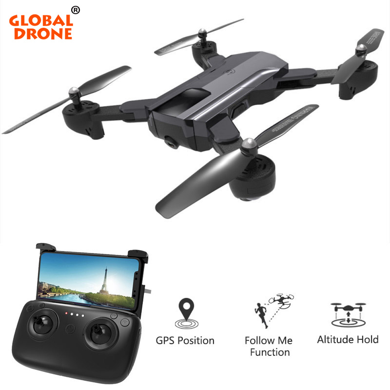 Global Drone GPS Quadrocopter with Camera HD Foldable RC Dron Follow Me Auto Return Profissional FPV Drones VS SG900-S Квадрокоптер